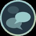 Icon mit Sprechblasen