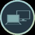 Icon mit Laptop und Monitor