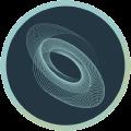 Icon mit rundem Wirbel