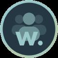 Icon mit Personen und Logo