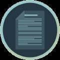Icon mit beschriebenem Blatt Papier