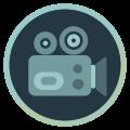 Icon mit Videokamera