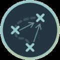 Icon mit verschiedenen Wegabschnitten