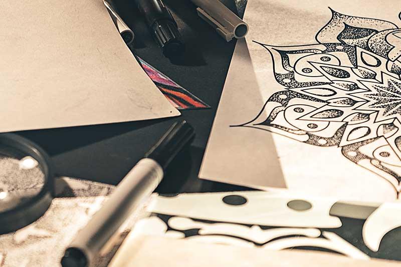 Bild von einer Skizze