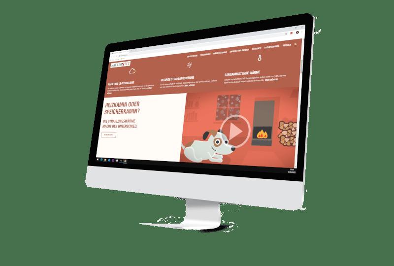 Bildschirm mit Webseite Firma Hafnertec