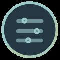Icon mit drei Reglern
