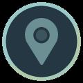 Icon mit Standortsymbol