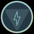Icon mit Warnschild und Blitz